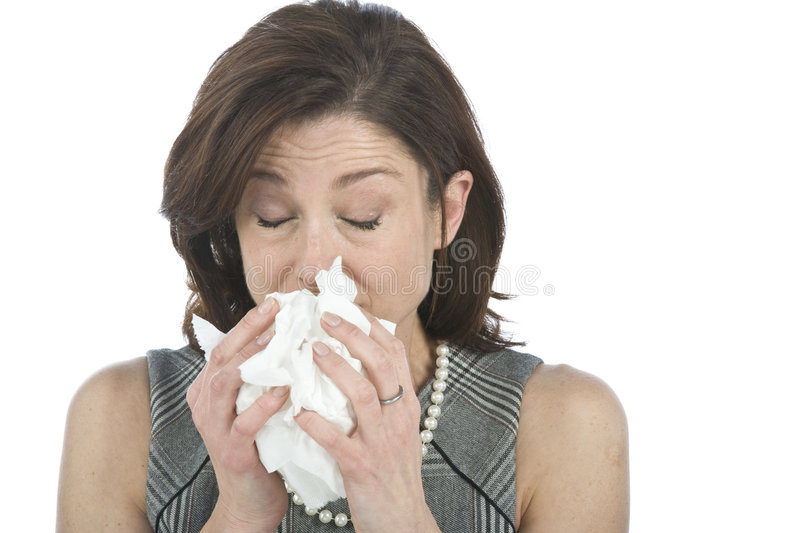 Women with allergies stock photography
