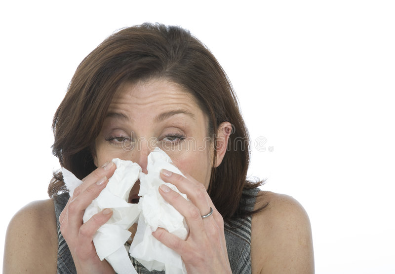 Women with allergies royalty free stock photos
