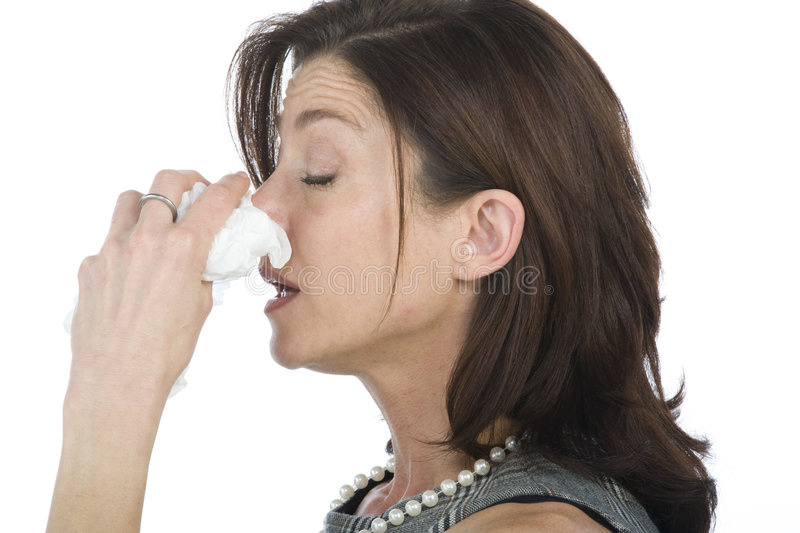 Women with allergies royalty free stock image