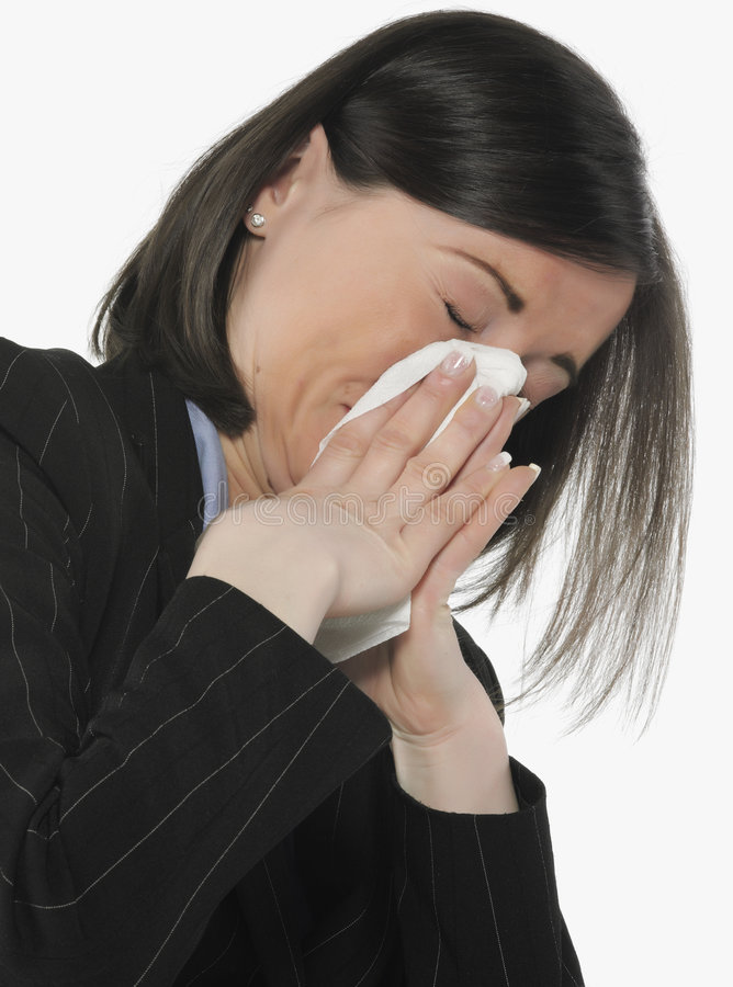Women with allergies stock images