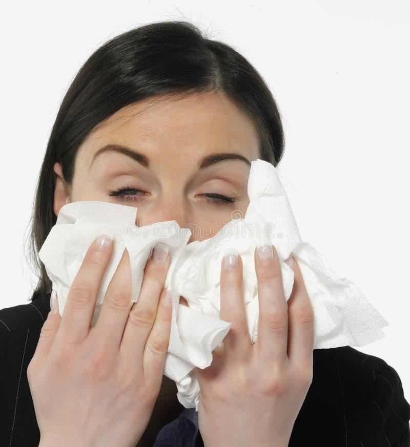 Women with allergies stock photo