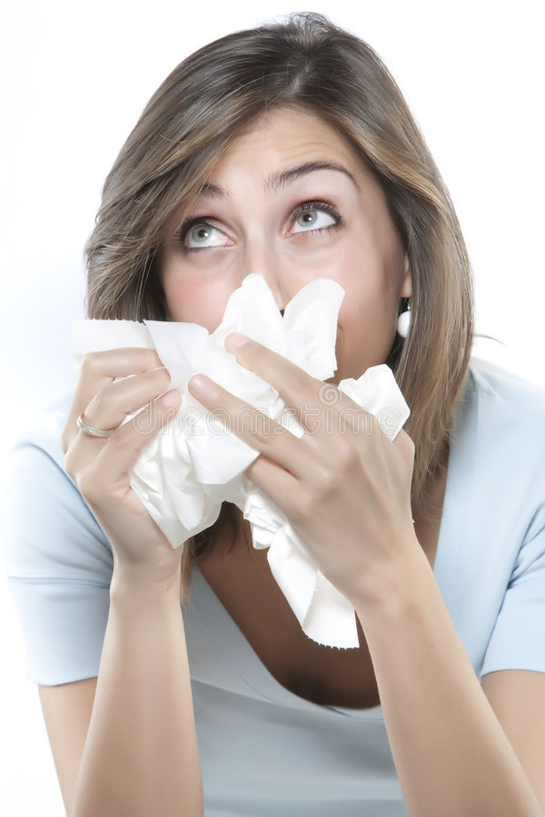Download Women with allergies stock image. Image of hold, puffy - 9163467