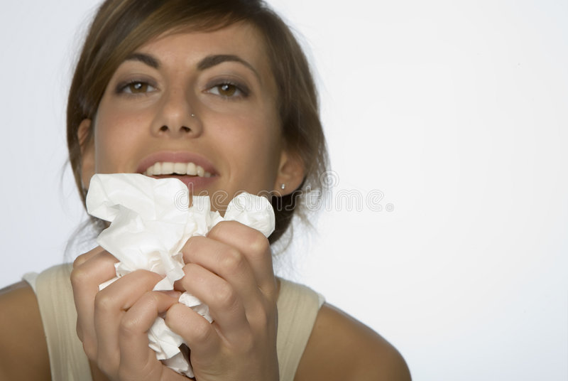 Women with allergy stock photo