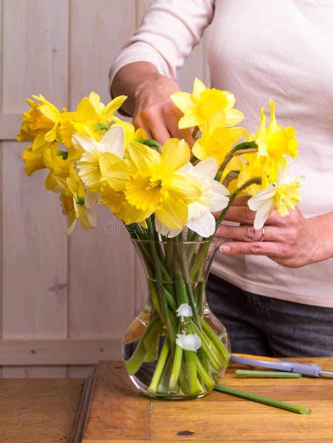 Download Women Arranging Flowers stock image. Image of quiet, decorate - 24549351