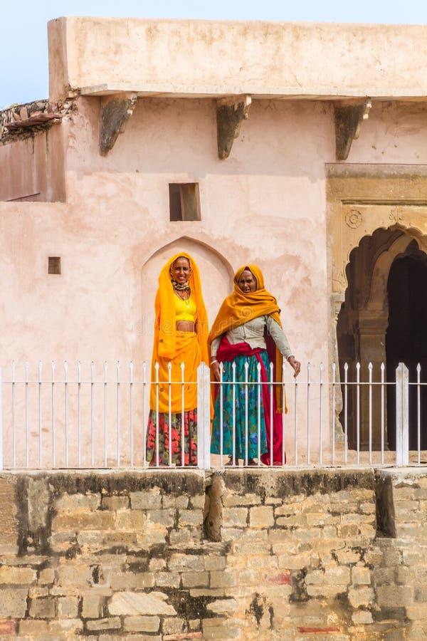 Free Women At Chand Baori Stepwell. Royalty Free Stock Photos - 85543678