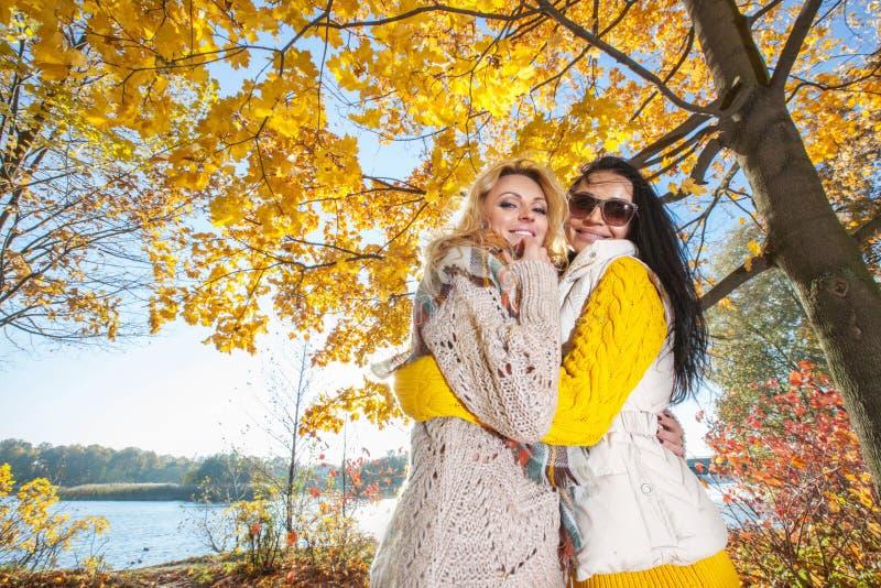 Women in autumn park royalty free stock photos