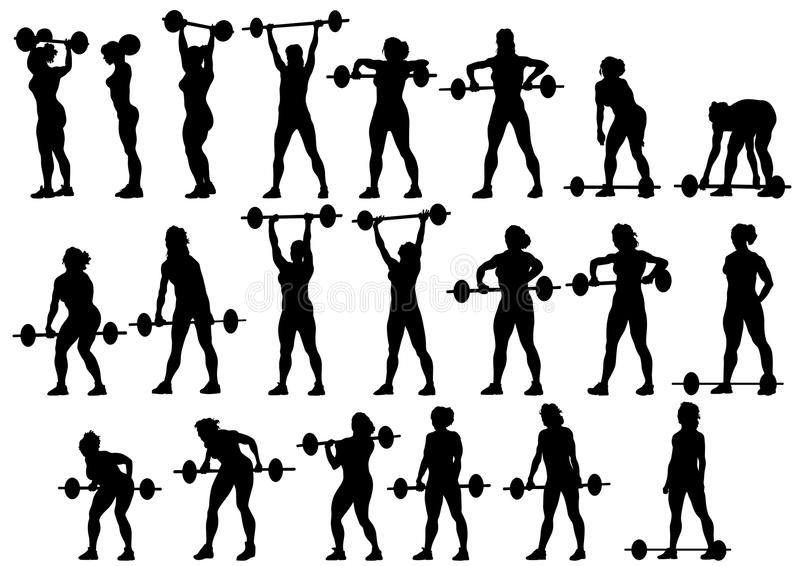 Women With Barbell Royalty Free Stock Image