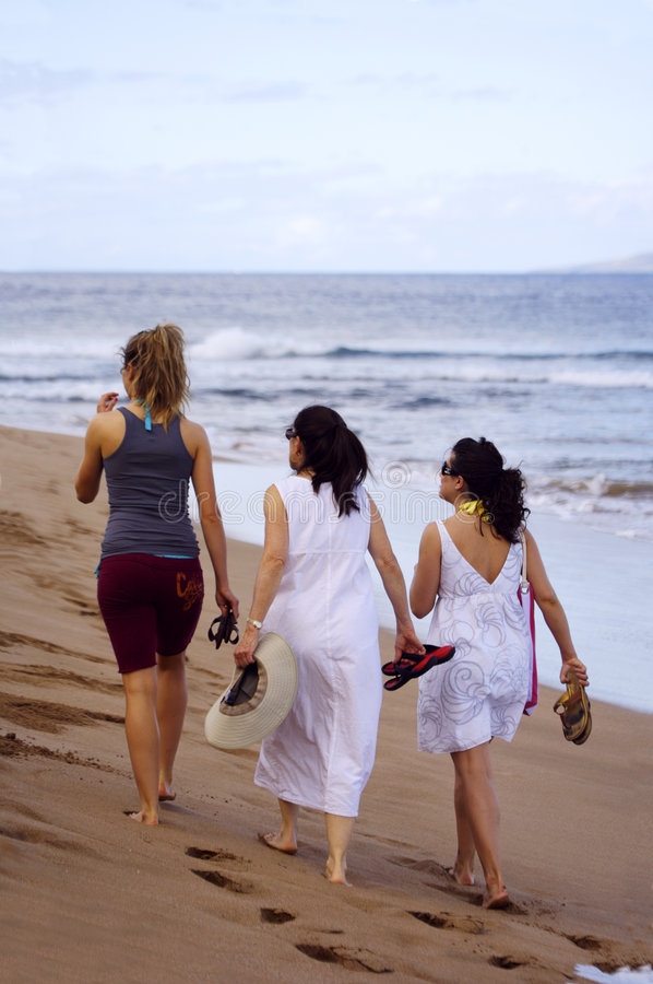 Download Women on the Beach stock photo. Image of mother, ladies - 2312060