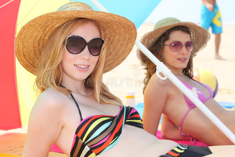 Download Women at the beach stock photo. Image of leisure, female - 26794730