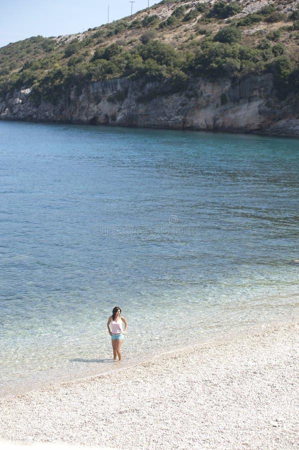 Women on beach royalty free stock image
