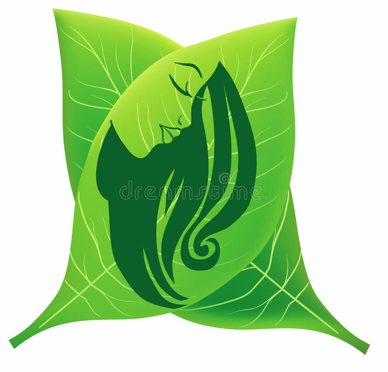 Women beauthy and care symbol. A illustration of women beauty and care symbol royalty free illustration