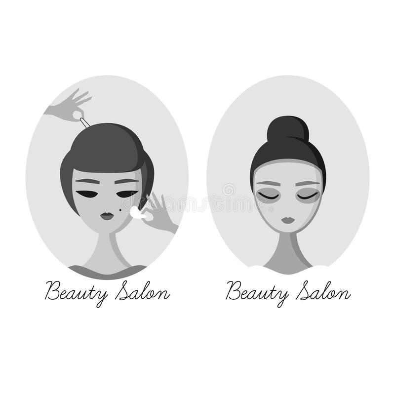 Women In Beauty Salon Banner Stock Vector Illustration Of Hairdresser Fashion 54461717