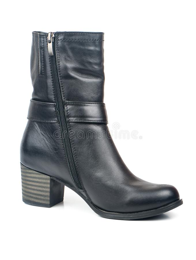 Women black boots stock images