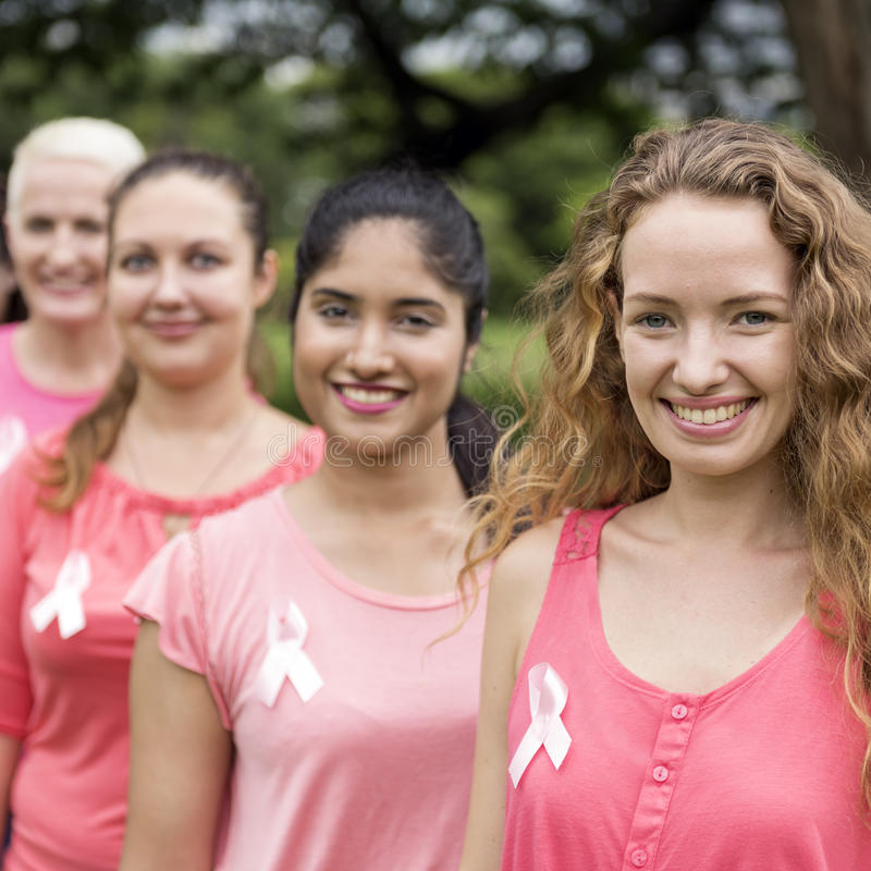 Women Breast Cancer Support Charity Concept stock image