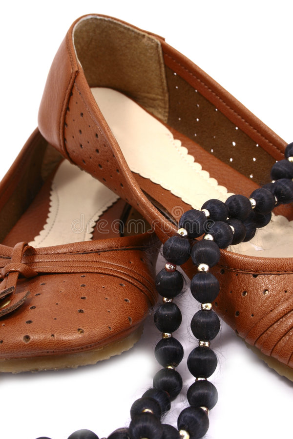 Download Women Brown Shoes Isolated On Stock Photo - Image of lady, detail: 3499876
