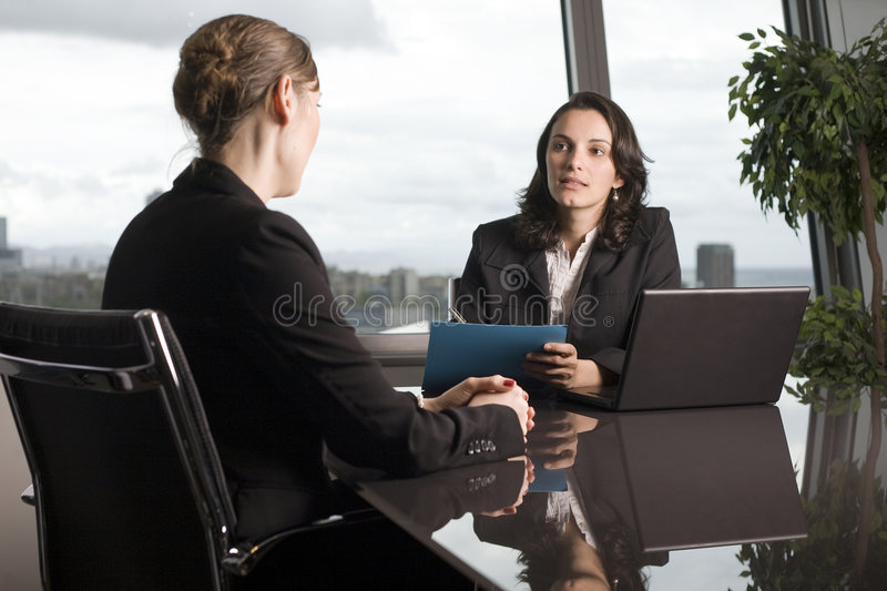 Women in business meeting stock images