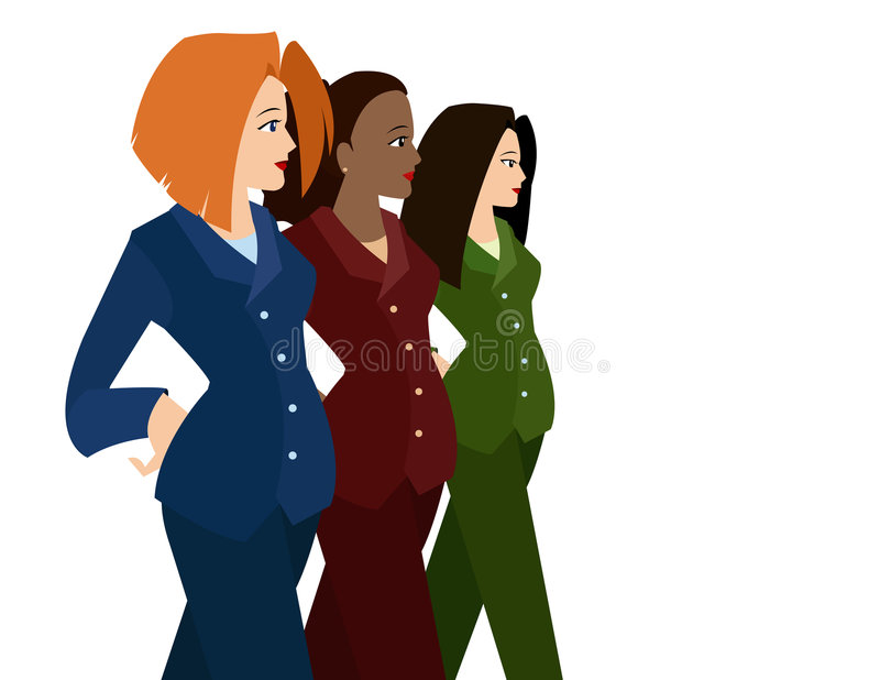 Women in Business Suits royalty free illustration