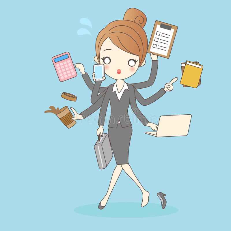 Women in busy too company. Women working in busy too company,great for your design royalty free illustration
