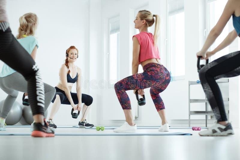 Women during workout royalty free stock photos