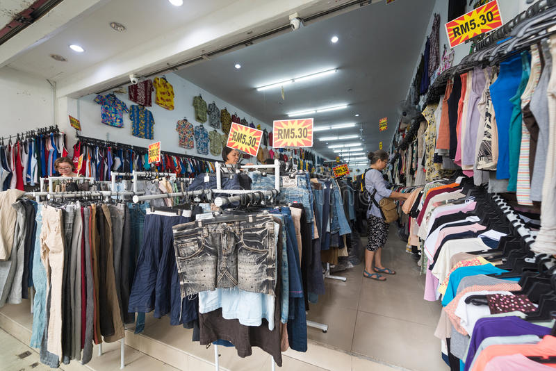 Women Buy Clothes At Second Hand Store Editorial Stock ... - photo#49