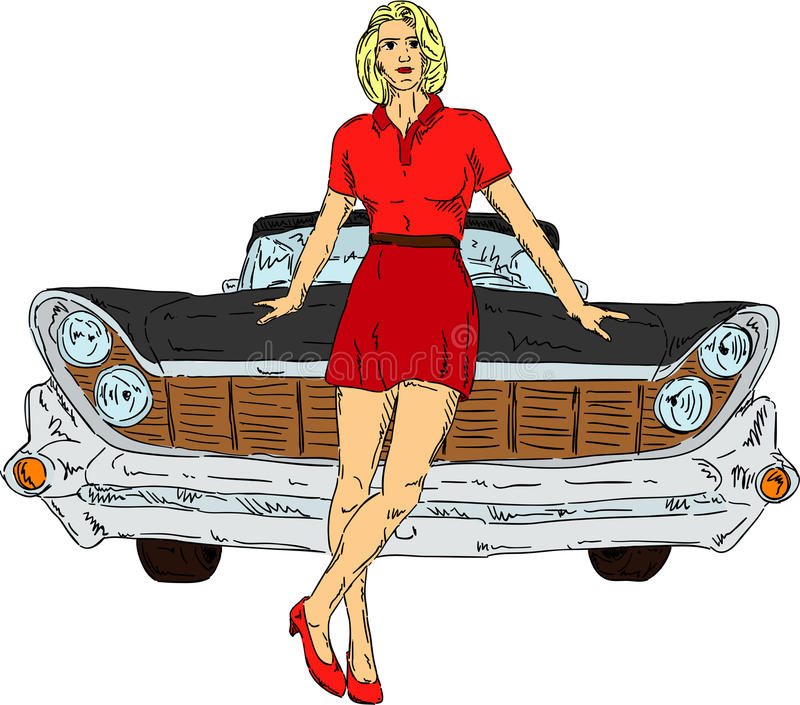 Women And Car Royalty Free Stock Photo