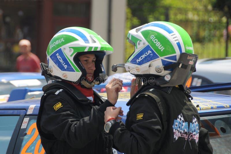 Women Car Racers royalty free stock photos