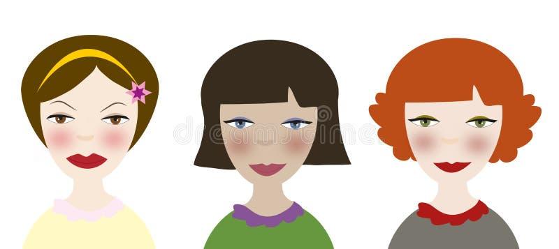 Women cartoon portrait