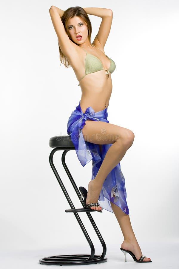 Women On A Chair Stock Photos