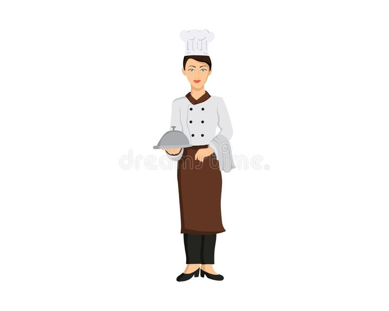 Women chef illustration stock images