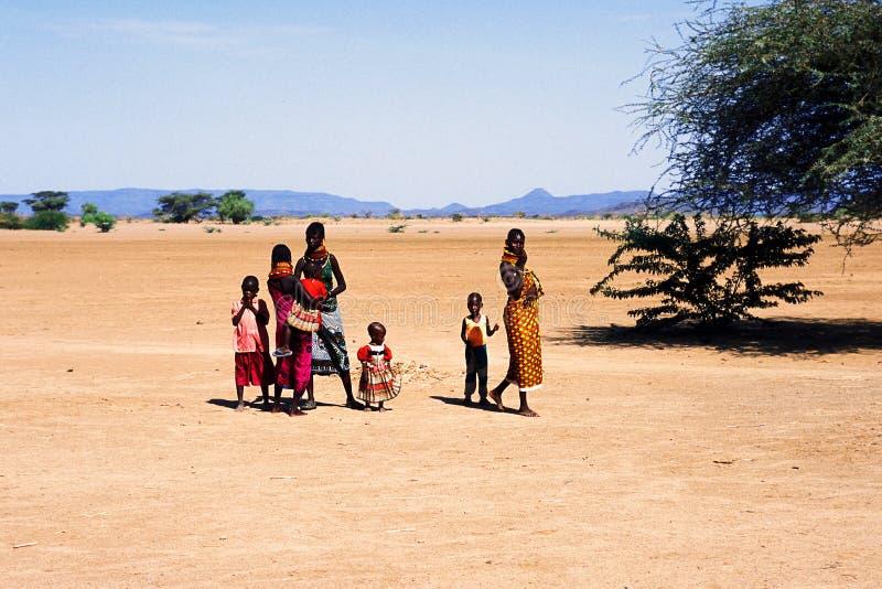 Women and children Turkana (Kenya) royalty free stock photography