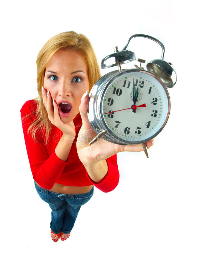 Download Women with clock stock image. Image of consternation - 29423359