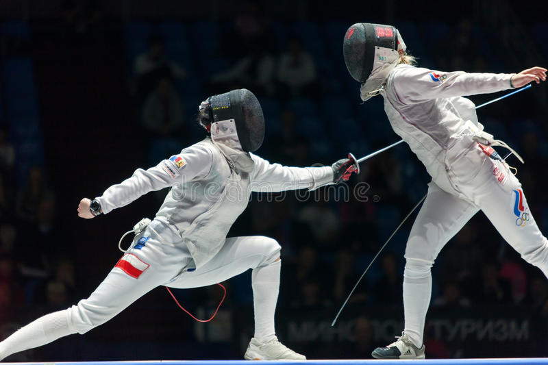 Download Women Compete On Championship Of World In Fencing Editorial Stock Image - Image: 30756899