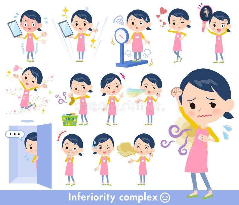 Women_complex de gardienne d'enfants illustration libre de droits