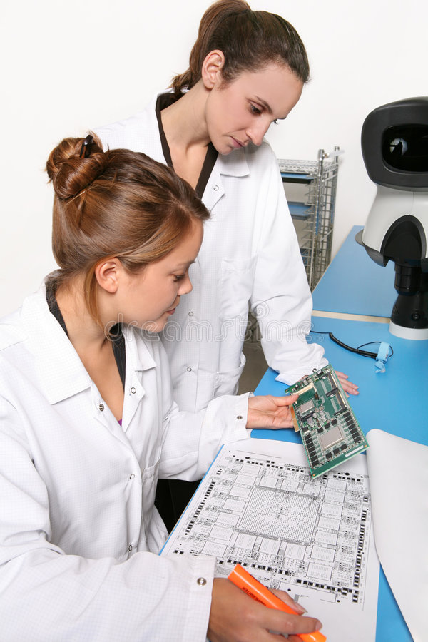 Women Computer Technicians stock photos