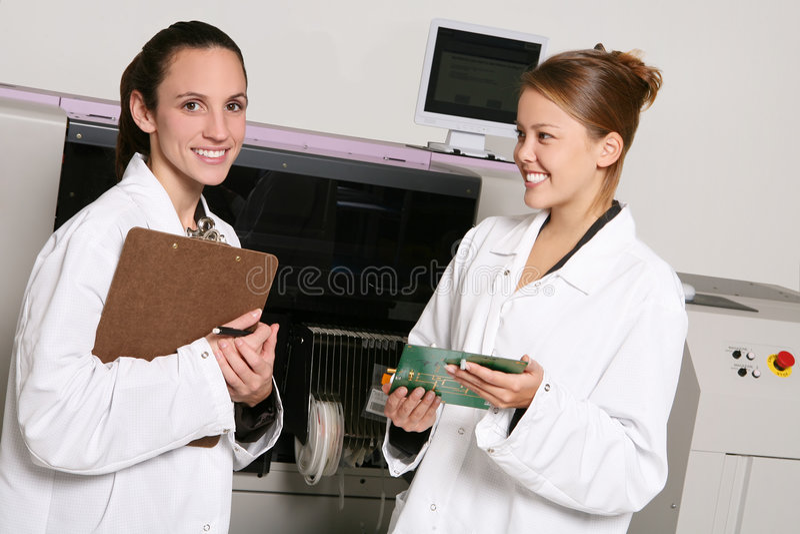 Women Computer Technicians stock photography