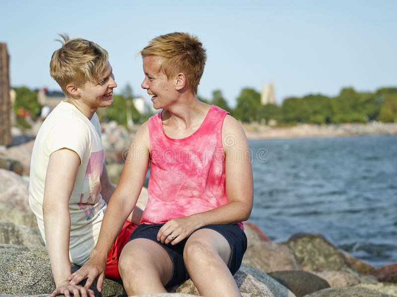Women couple royalty free stock photography