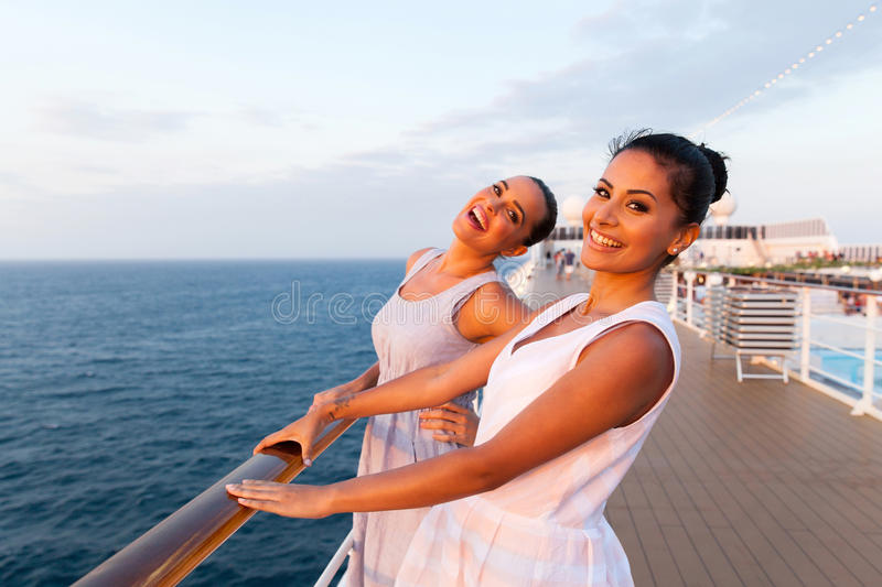 Women cruise ship stock photography