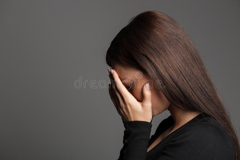 Women crying. royalty free stock image