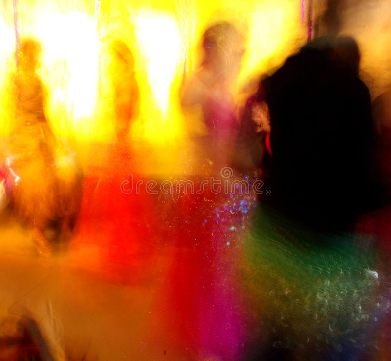 Women Dancing at a Party. Long exposure photograph featuring women dancing at a party (Adelaide, Australia royalty free stock image