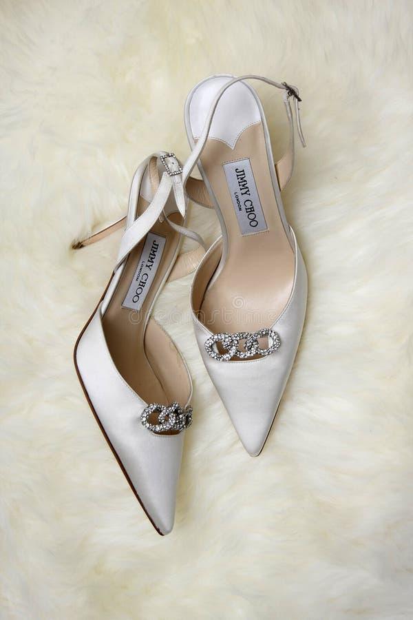 Women Designer Shoe by Jimmy Choo stock images
