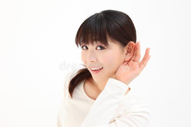 Women devote to hear the hand