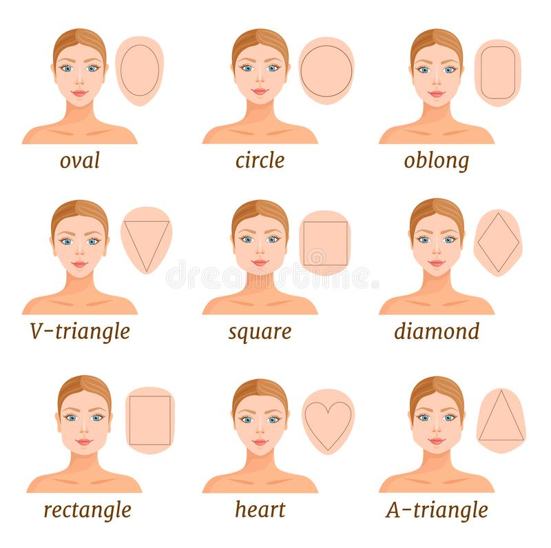 Excellent Different Face Shapes Stock Illustrations 725 Different Face Schematic Wiring Diagrams Amerangerunnerswayorg