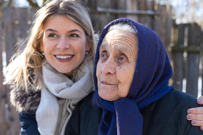 Women of different generations royalty free stock photo