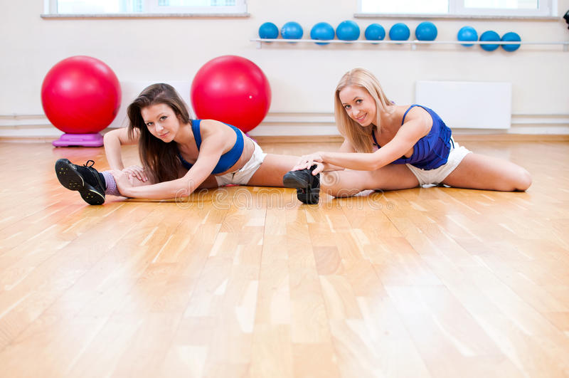 Women Do Stretching Exercise Stock Images
