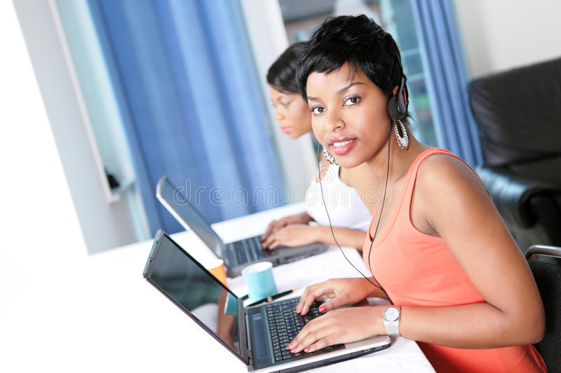Women doing business or trading online royalty free stock images
