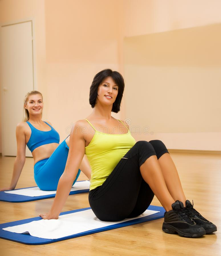 Women Doing Fitnees Exercise Free Stock Photography