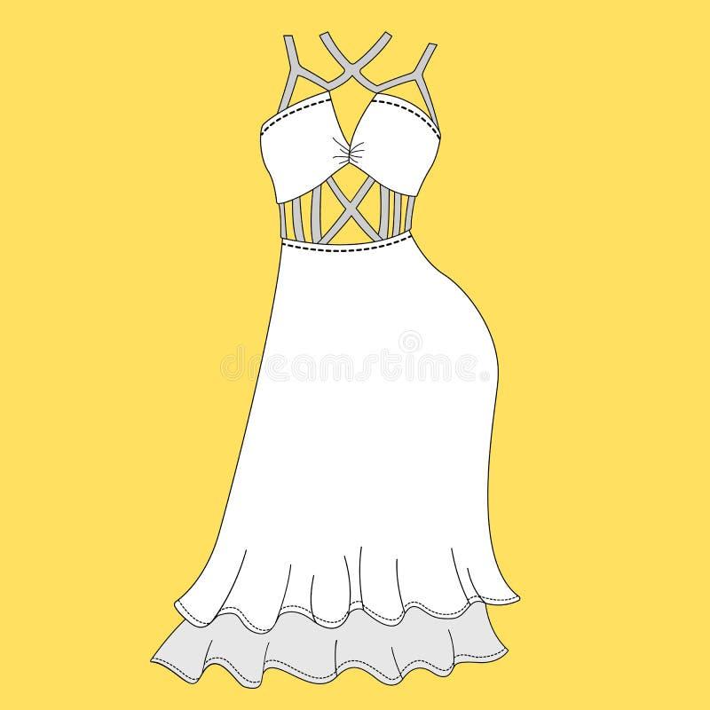 Dress Templates | Women Dress Design Fashion Flat Templates Sketches Illustration