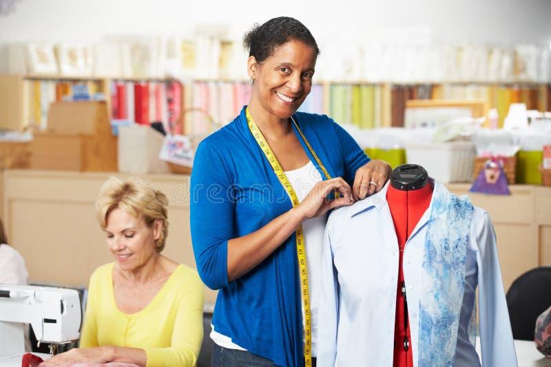 Women In Dress Making Class Stock Photo