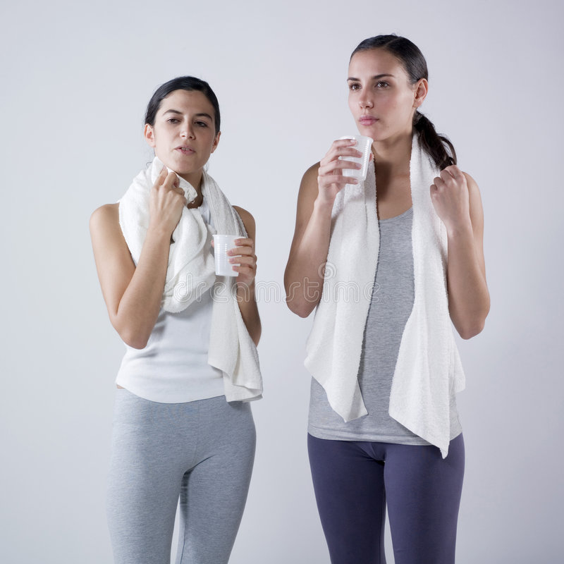 Download Women Drinking  After Effort Stock Photo - Image: 7673060