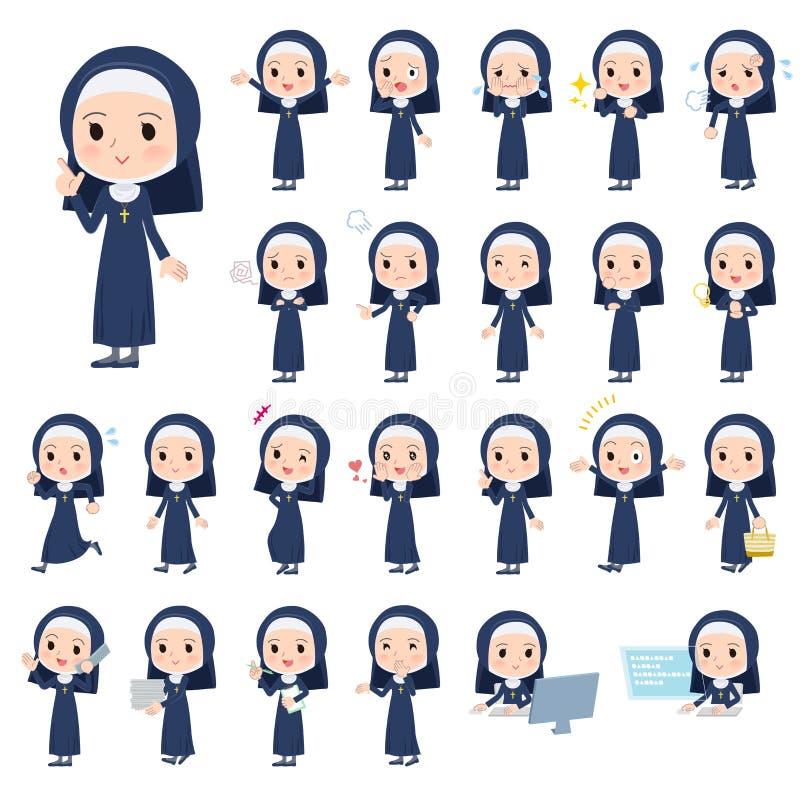 Women_emotion da freira ilustração royalty free
